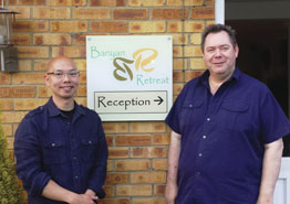 Co-owners of The Banyan Retreat Nic Witham and Steven Siu.