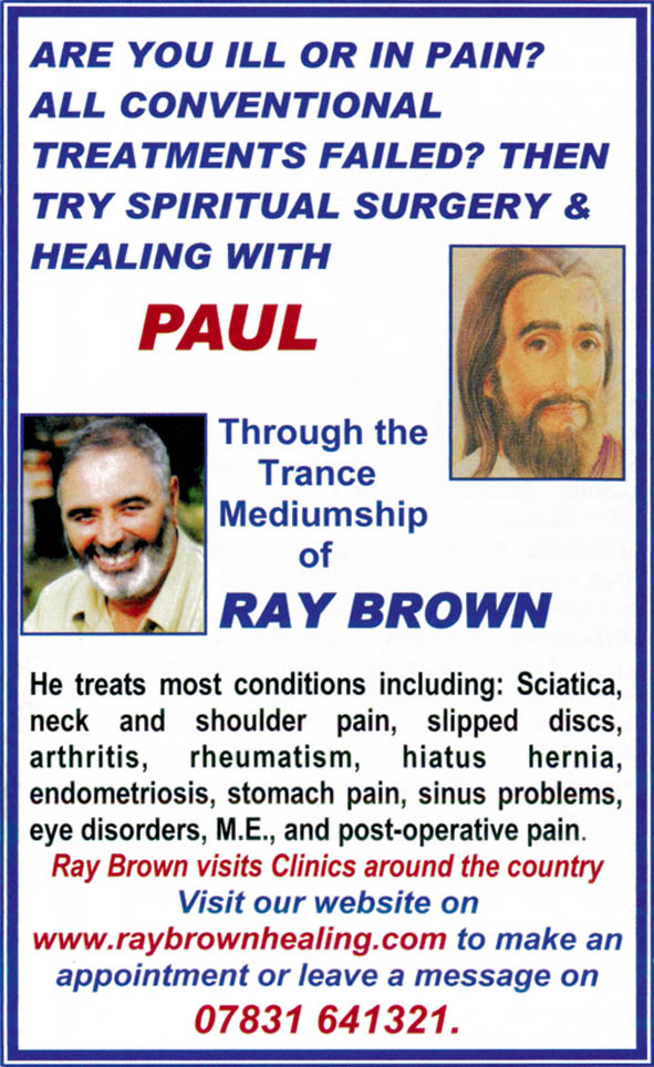Ray Brown – www.raybrownhealing.com