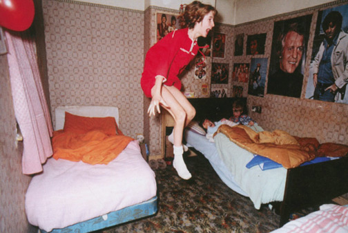 The real-life Janet Hodgson pictured in 1977 during the Enfield Poltergeist investigation