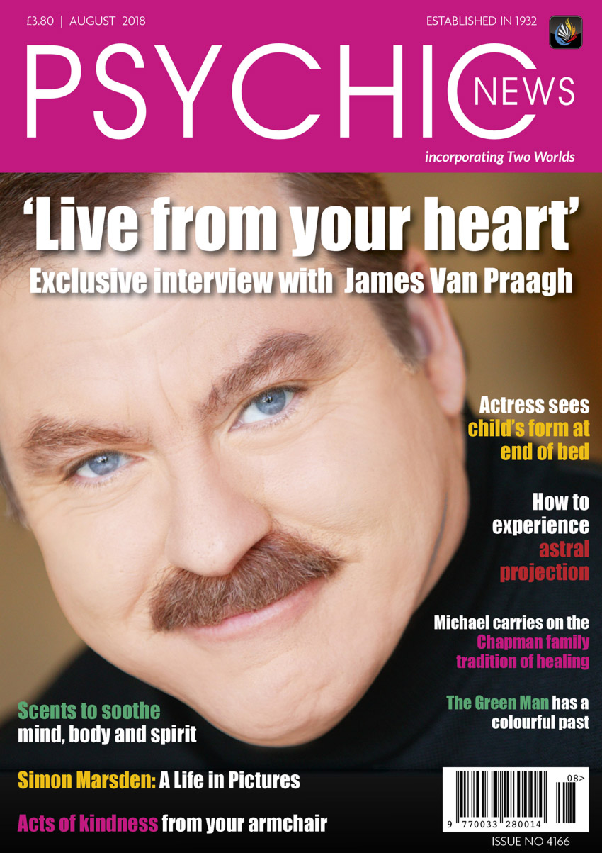 Psychic News - August 2018 issue Cover100-August-2018-FRONTPAGE