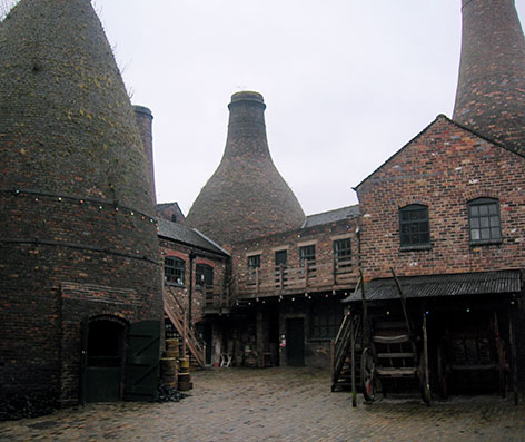 The inner courtyard of Gladstone Pottery Museum (Photo: NotFromUtrecht)