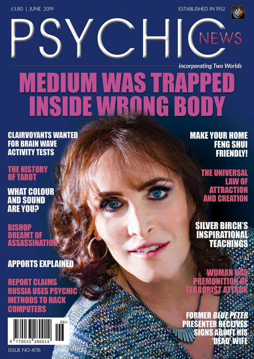 Psychic News - June 2019 issue Cover110-June-2019-FRONTPAGE