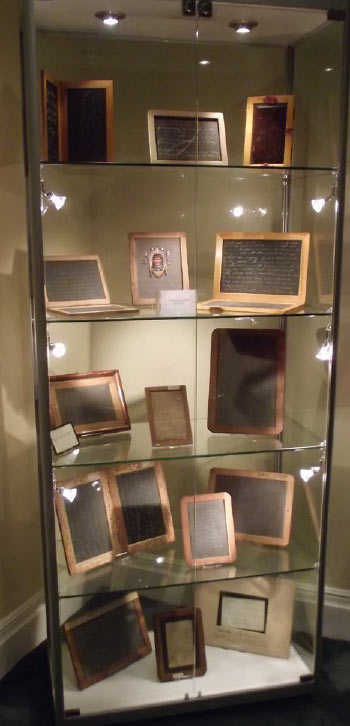 display of direct writing slates