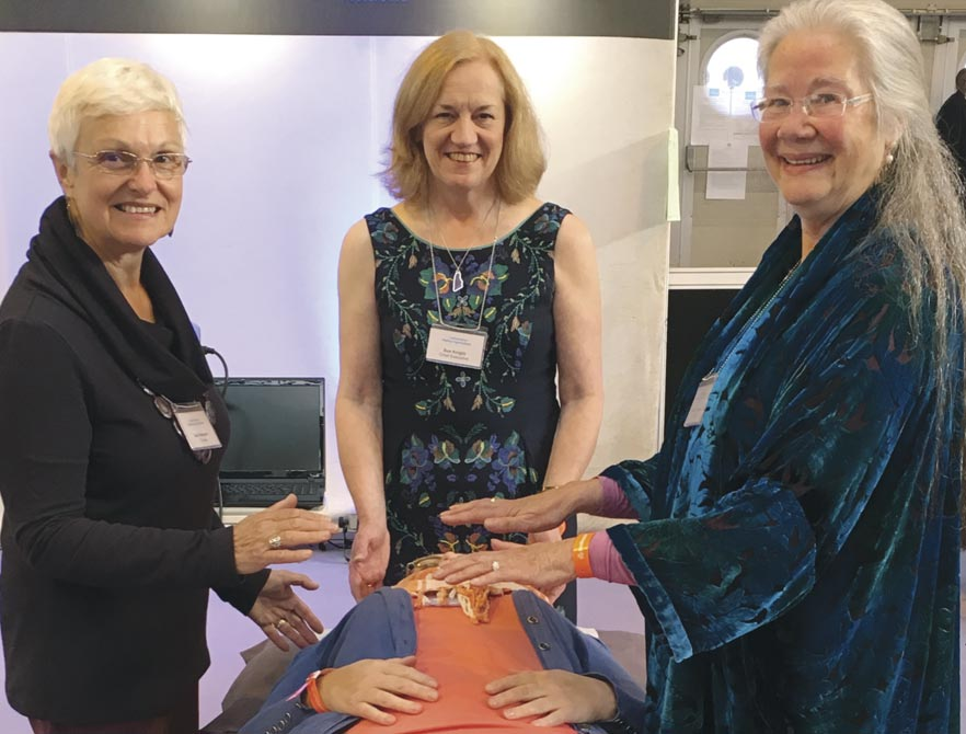 CHO's top team (from left), healer Sue Newport, Sue Knight (CHO chief executive) and healer Diane O'Connell at Birmingham's NEC