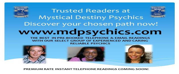 Trusted Readers at Mystical Destiny Psychics – Discover your chosen path now – mdpsychics.com – The best in pre-booked telephone & email readings with our select groups of experienced and caring reliable psychics – premium rate instant telephone readings coming soon!